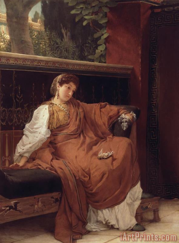 Lesbia Weeping over a Sparrow painting - Sir Lawrence Alma-Tadema Lesbia Weeping over a Sparrow Art Print