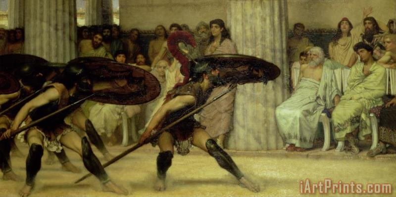 Pyrrhic Dance painting - Sir Lawrence Alma-Tadema Pyrrhic Dance Art Print
