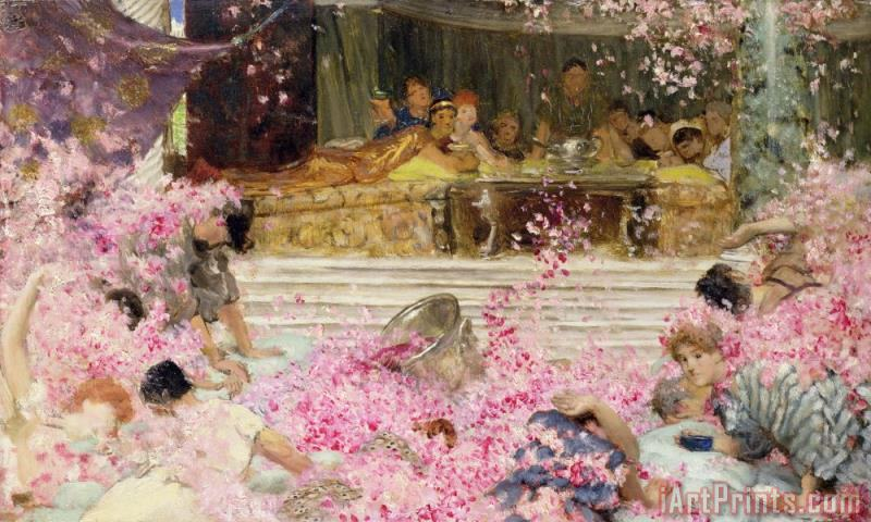 Sir Lawrence Alma-Tadema Study for The Roses of Heliogabulus Art Print