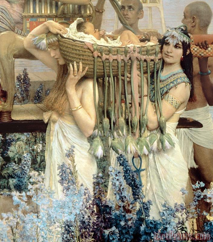 Sir Lawrence Alma-Tadema The Finding of Moses by Pharaoh's Daughter Art Print