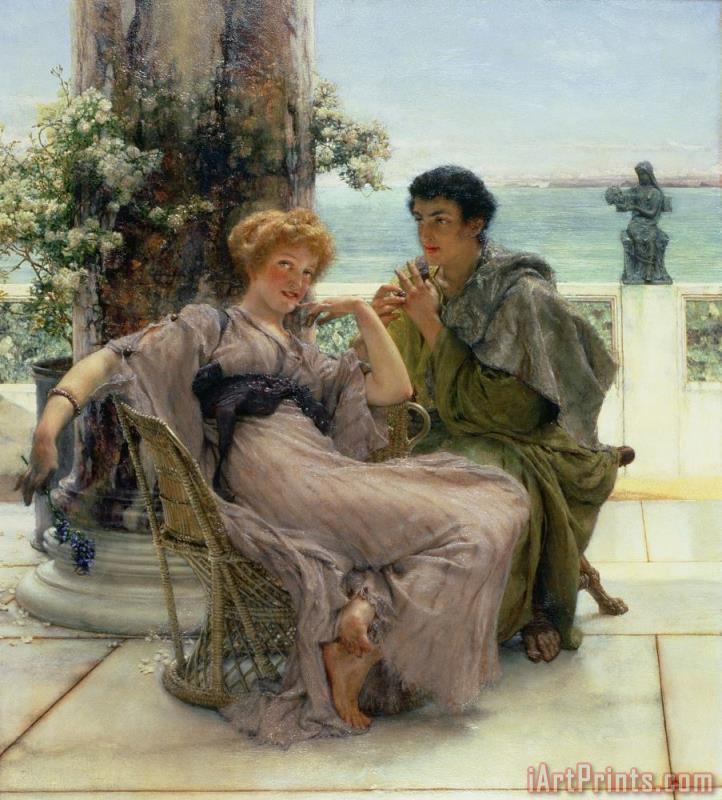 The Proposal painting - Sir Lawrence Alma-Tadema The Proposal Art Print