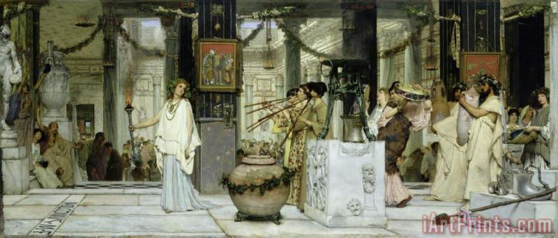 Sir Lawrence Alma-Tadema The Vintage Festival in Ancient Rome Art Print