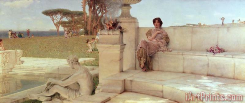 The Voice of Spring painting - Sir Lawrence Alma-Tadema The Voice of Spring Art Print