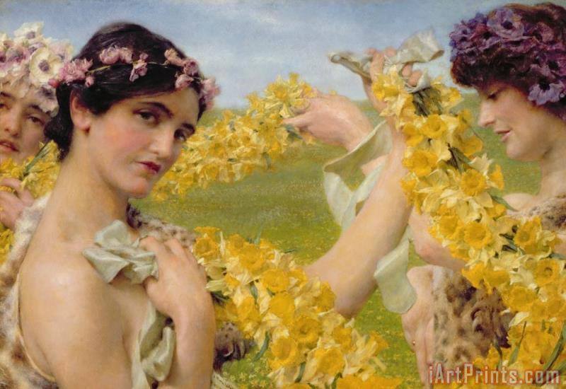 When Flowers Return painting - Sir Lawrence Alma-Tadema When Flowers Return Art Print