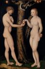 Adam and Eve in the Garden of Eden by The Elder Lucas Cranach