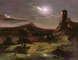 Landscape - Moonlight by Thomas Cole