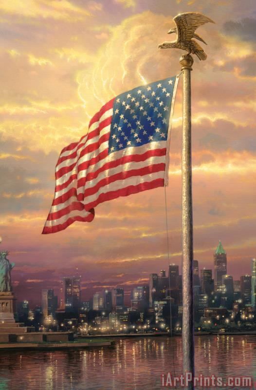 The Light of Freedom painting - Thomas Kinkade The Light of Freedom Art Print