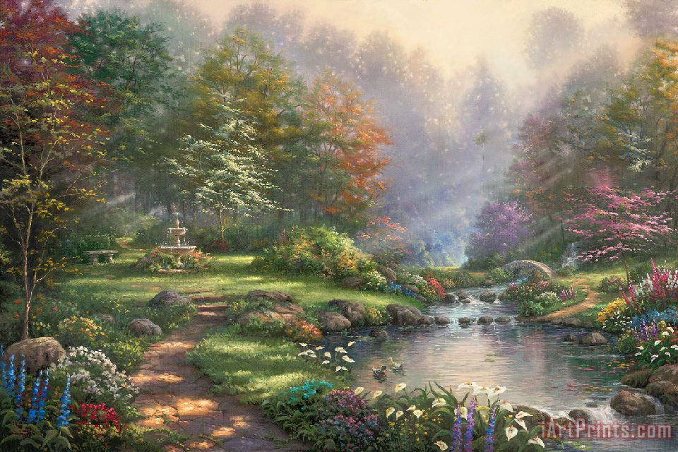 Reflections of Faith painting - Thomas Kinkade Reflections of Faith Art Print