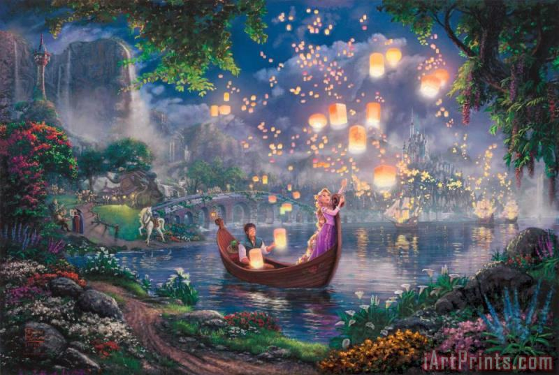 Thomas Kinkade Tangled Art Print