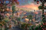 Lady And The Tramp by Thomas Kinkade