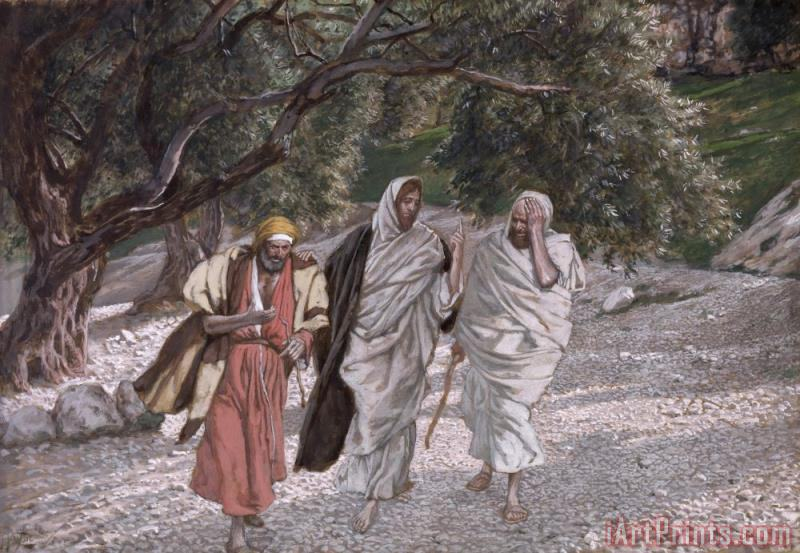 Tissot The Disciples on the Road to Emmaus Art Painting