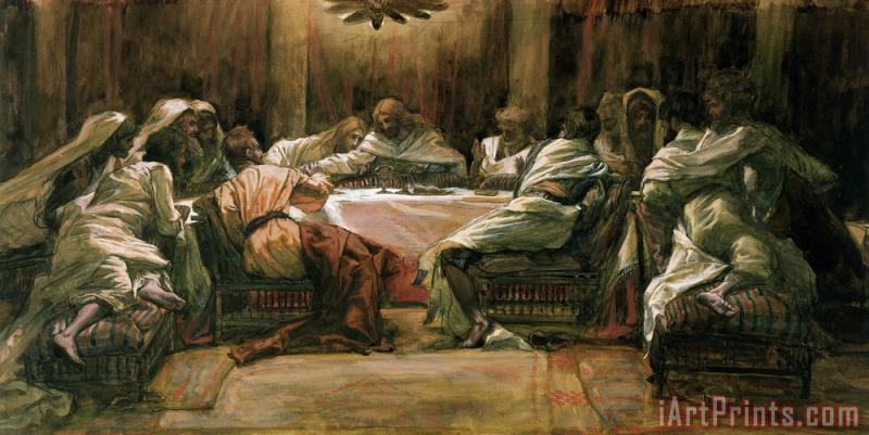 The Last Supper painting - Tissot The Last Supper Art Print