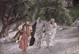 The Disciples on the Road to Emmaus by Tissot