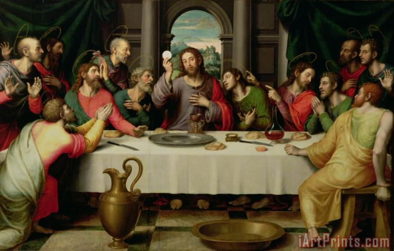 The Last Supper painting - Vicente Juan Macip The Last Supper Art Print