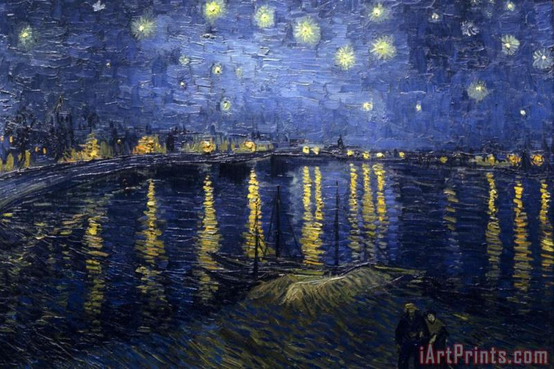 Starry Night Over The Rhone painting - Vincent van Gogh Starry Night Over The Rhone Art Print