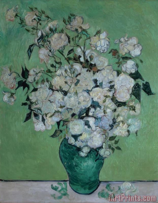A Vase of Roses painting - Vincent van Gogh A Vase of Roses Art Print