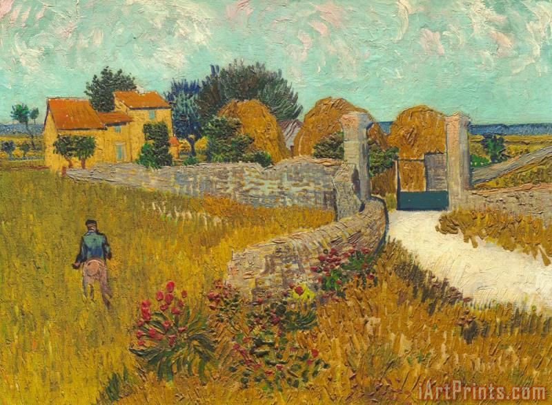 Vincent van Gogh Farmhouse In Provence Art Print
