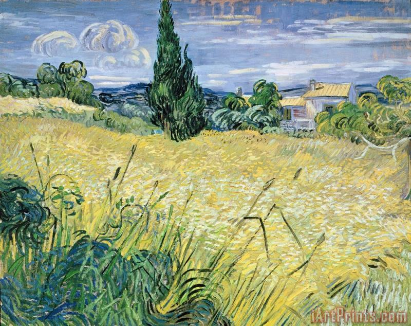 Landscape with Green Corn painting - Vincent Van Gogh Landscape with Green Corn Art Print