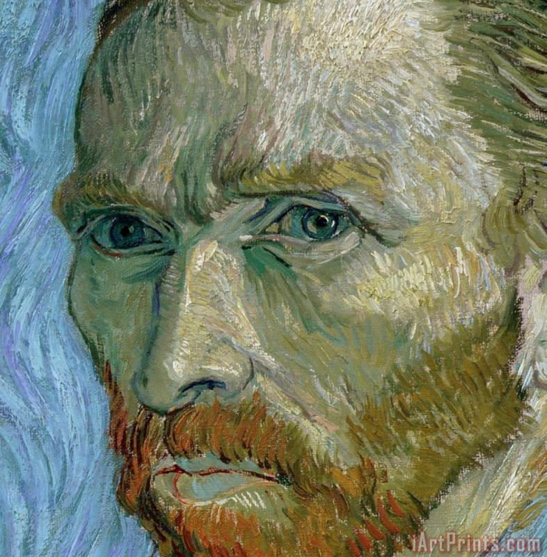 Self-portrait painting - Vincent Van Gogh Self-portrait Art Print