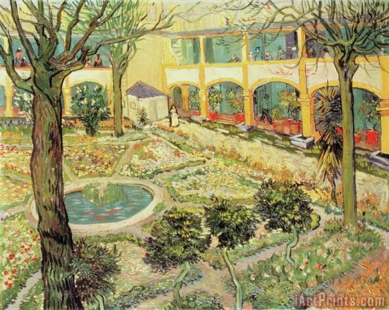 The Asylum Garden at Arles painting - Vincent van Gogh The Asylum Garden at Arles Art Print
