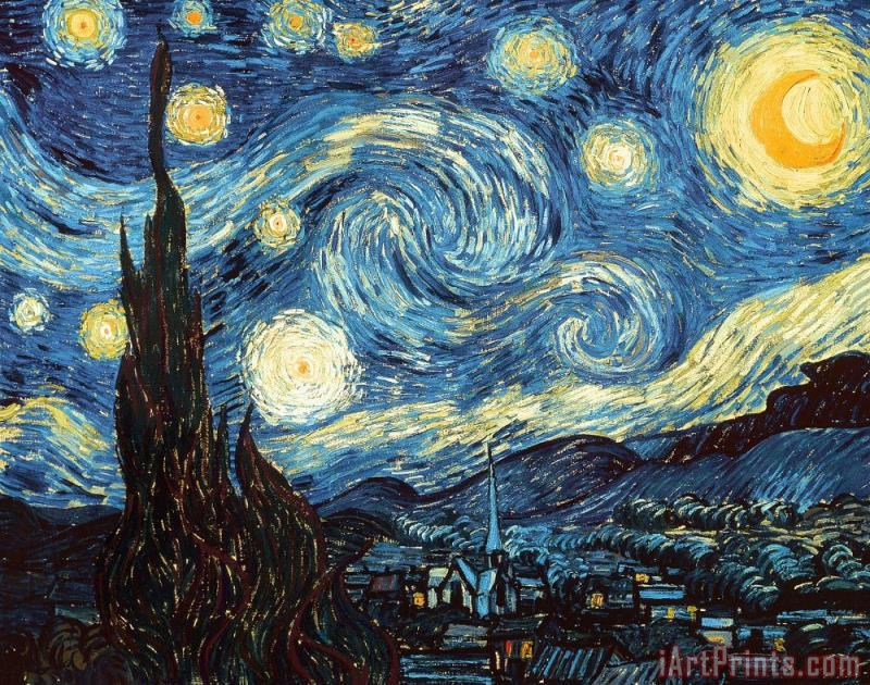 The Starry Night painting - Vincent Van Gogh The Starry Night Art Print