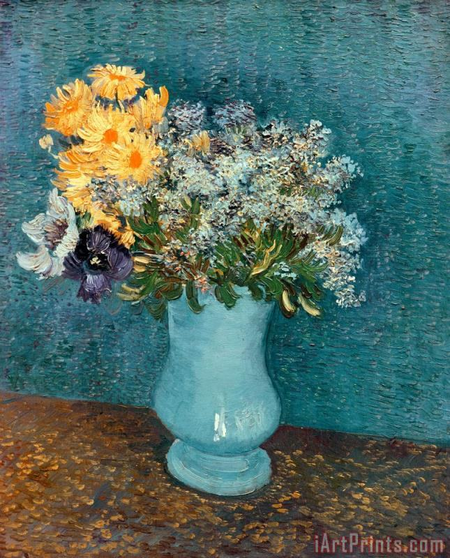 Vase of Flowers painting - Vincent van Gogh Vase of Flowers Art Print