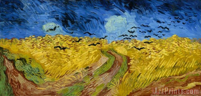 Vincent van Gogh Wheatfield with Crows Wiki Art Print