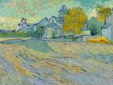 View of the Asylum and Chapel at Saint Remy by Vincent van Gogh