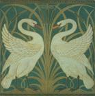 Wallpaper Design for panel of Swan Rush and Iris by Walter Crane