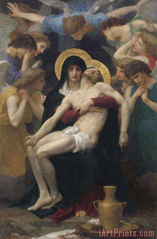 William Adolphe Bouguereau Pieta Art Print