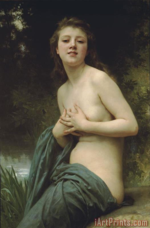 Spring Breeze painting - William Adolphe Bouguereau Spring Breeze Art Print
