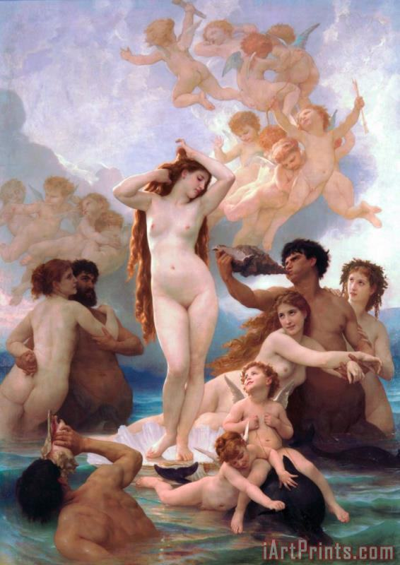 William Adolphe Bouguereau The Birth Of Venus Art Print