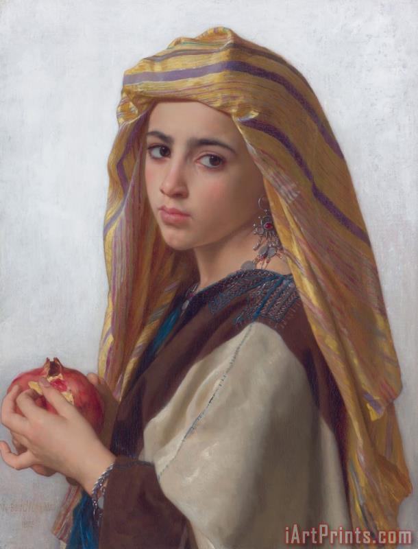 William Adolphe Bouguereau Girl with a Pomegranate Art Print