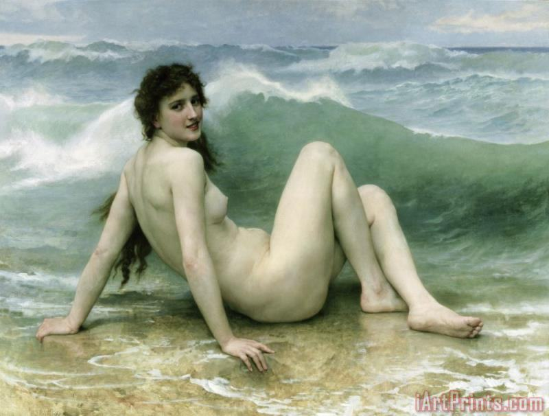 William Adolphe Bouguereau La Vague Art Print
