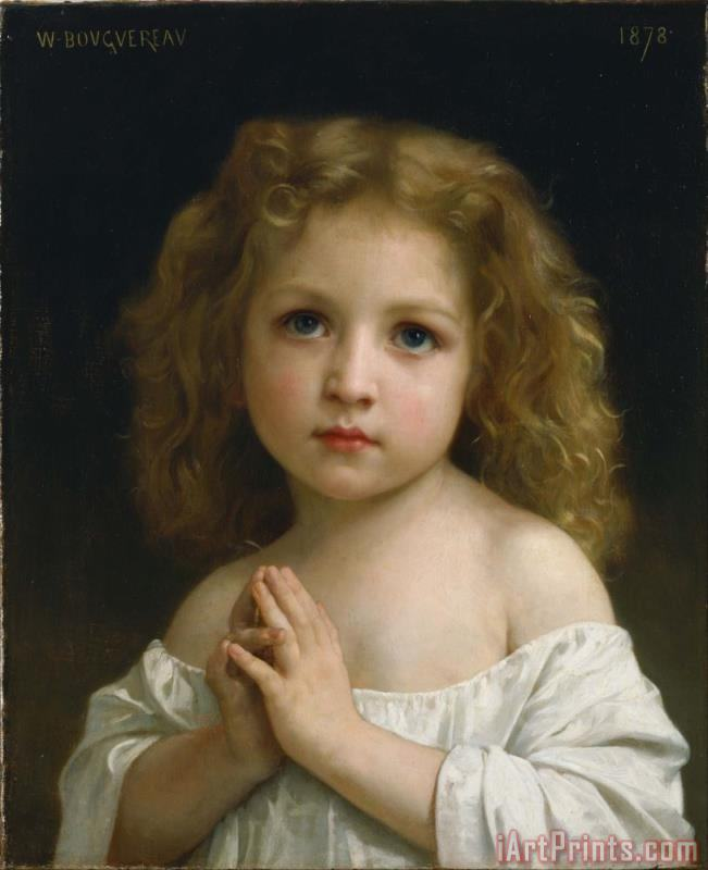Little Girl painting - William Adolphe Bouguereau Little Girl Art Print