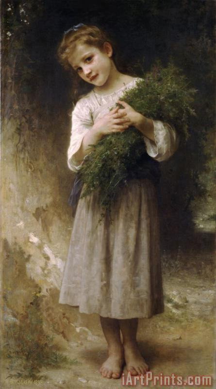 Returned From The Fields painting - William Adolphe Bouguereau Returned From The Fields Art Print