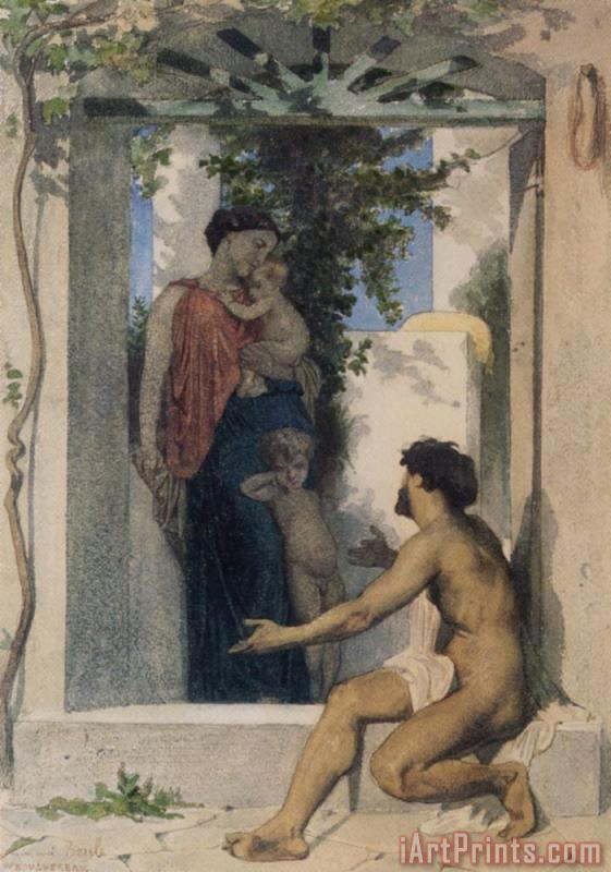 Roman Charity painting - William Adolphe Bouguereau Roman Charity Art Print