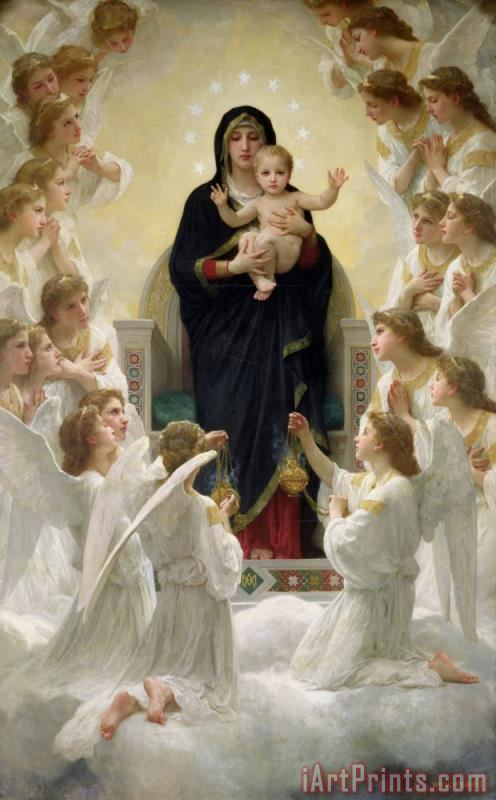 William Adolphe Bouguereau The Virgin with Angels Art Print
