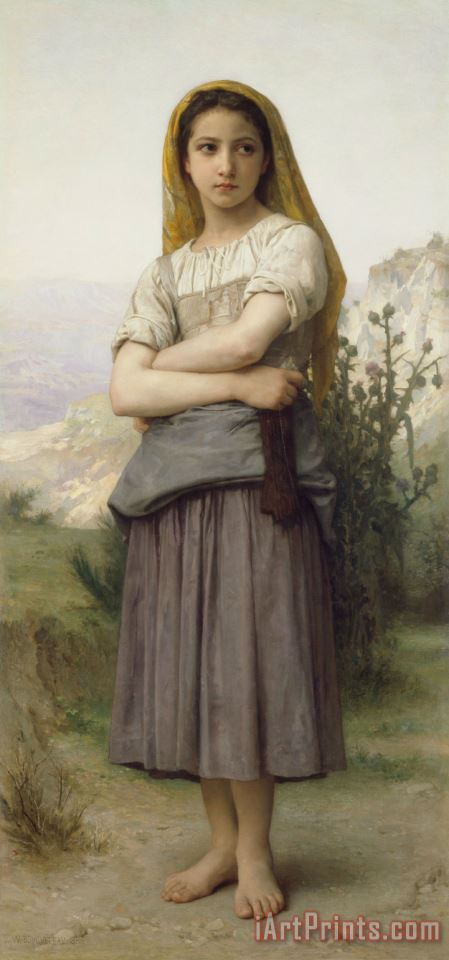 Young Girl Adjusted painting - William Adolphe Bouguereau Young Girl Adjusted Art Print