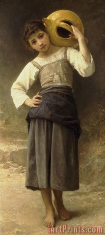 Young Girl Going to The Fountain painting - William Adolphe Bouguereau Young Girl Going to The Fountain Art Print