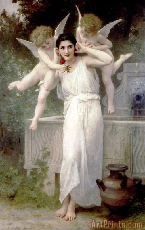 Youth painting - William Adolphe Bouguereau Youth Art Print