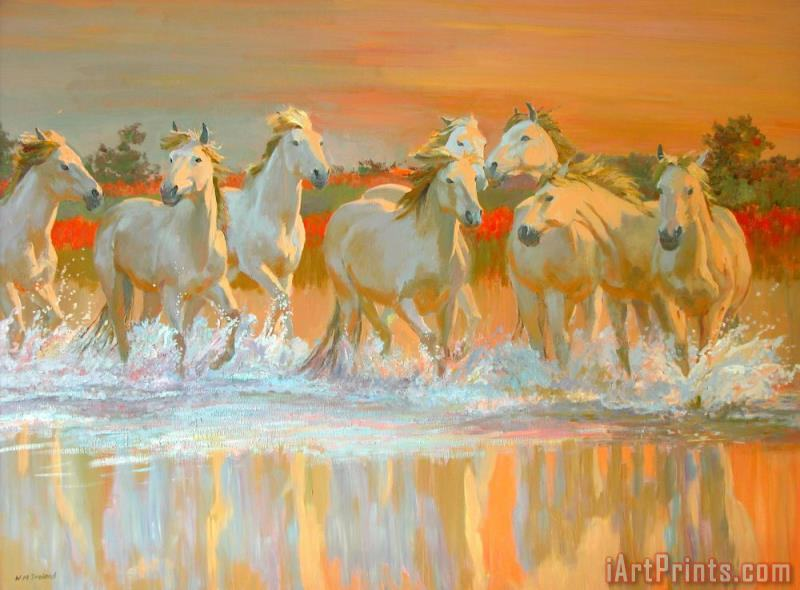 Camargue painting - William Ireland Camargue Art Print