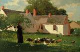 Farmyard Scene by Winslow Homer